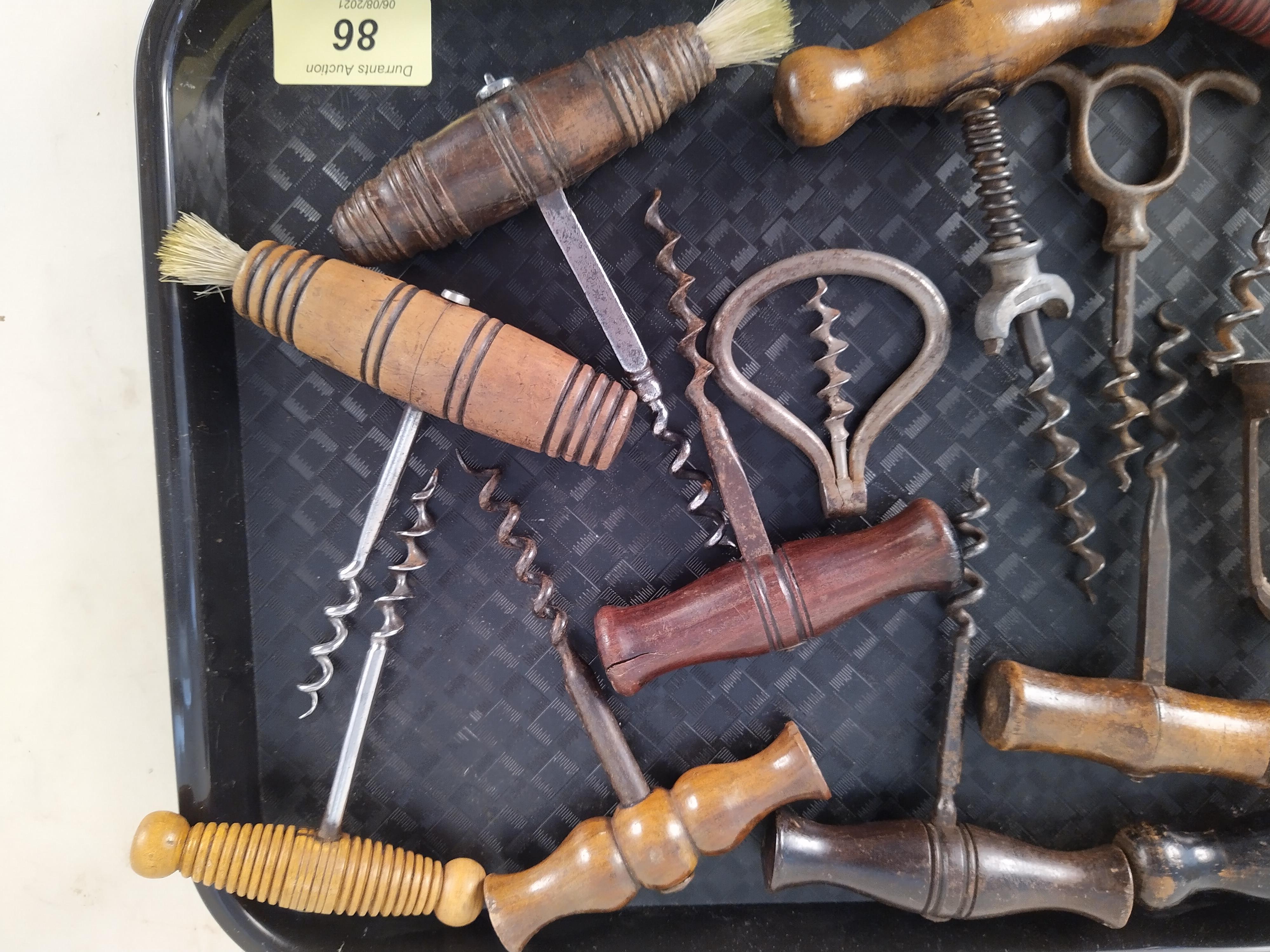 Approx thirteen assorted antique corkscrews - Image 3 of 3