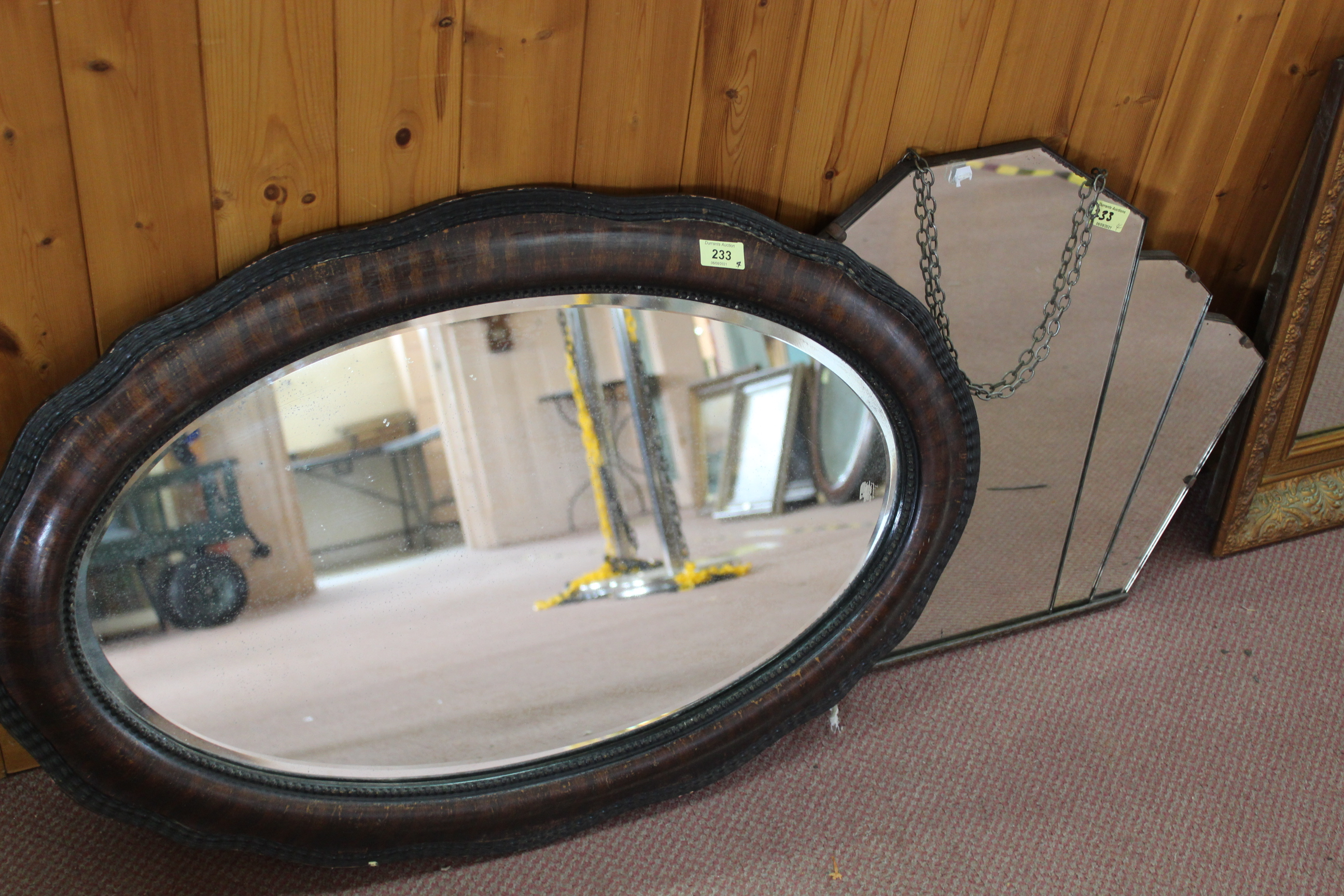 Two gilt framed mirrors, - Image 2 of 3