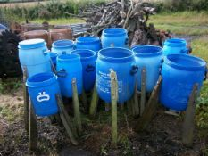 14 Pheasant Barrel Feeders (no lids). Stored near Beccles, Suffolk. No VAT on this lot.