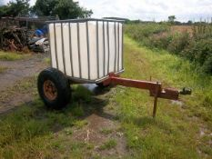 IBC Bowser, Farm Made, Tyres Poor, No Brakes, Ball Hitch. Stored near Beccles, Suffolk.
