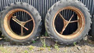 Pair of Bettison stlye 12 x 36 dual wheels. Stored near Eye, Suffolk.