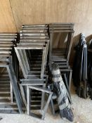 Qty of Fabricated steel legs for tables - approx.. 30 x large and 33 x small.