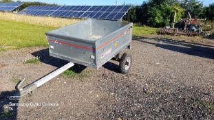 "Quad bike trailer 50mm ball sides 12"" high 42"" x 34"". Stored near Eye, Suffolk."