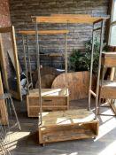 2 x Coat Hanger and drawers/Wardrobe stands (38cmx 88cm x 180cm high) (39cm x 98cm x 193cm high).