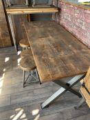 Table and 3 x Stools (180cm x 80cm x 75cm high). Stored near Clenchwarton, Kings Lynn.