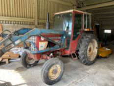 International 475 Tractor (Purchased New 1977, 6289 hours) with Tanco 968 Loader and Fork.