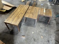 3 x Coffee/Side tables - (113cm x 45cm, 45cm x 72cm and 45cm x 45cm, all approx. 40cm high).