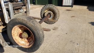 Ferguson three tonne trailer axle 12 stud. Stored near Eye, Suffolk.
