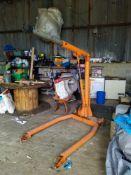 Industrial Engine Hoist, EPCO TC 1020 Crane, maximum lifting capacity: 1 Tonne.