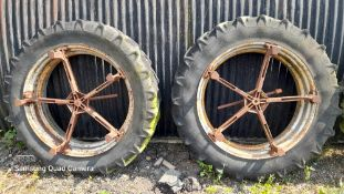 Bettison style dual wheels13.6 x 38. Stored near Eye, Suffolk.