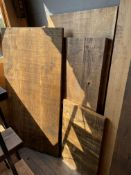 Qty of Mixed sized timber and table tops. Stored near Clenchwarton, Kings Lynn.