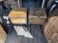 2 x Bedside Tables (40cm x 40cm x 70cm high). Stored near Clenchwarton, Kings Lynn.