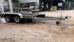 Wessex plant trailer, 2500kg gross weight, lights and brakes ok, ready to work.