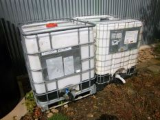 2 IBC Tanks. Stored near Beccles, Suffolk. No VAT on this lot.