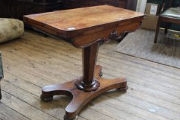 An early Victorian rosewood card table