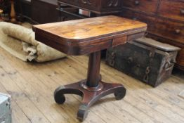A William IV card table