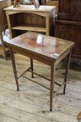 An Edwardian inlaid mahogany small card table