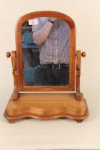 A Victorian satin birch toilet mirror