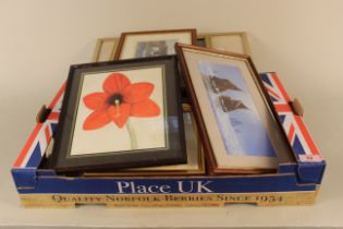 """A selection of pictures including a framed limited edition print by Graham Evernden """"Willows"""""""