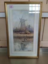"Simon T Trinder watercolour ""The Old Windpump"","