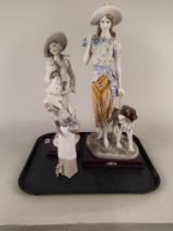 """A large Julian Collection figurine 20"""" high together with one other Florence Guiseppe Armani 17"""