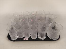 A selection of mid Century Littala Finnish glass,