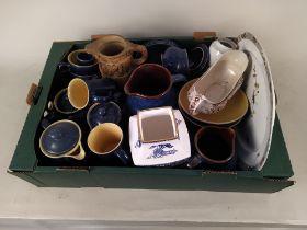A part Denby stoneware tea set plus various mixed ceramics