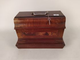 A cased sewing machine by White S M & Co Ohio USA