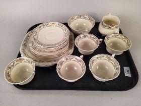 An Edwardian Wedgwood 'Dorothy' pattern part tea set,
