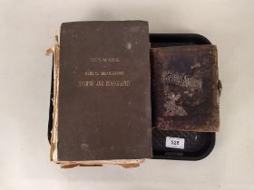 A small Victorian leather bound photograph album,