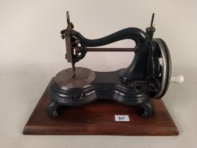 A late 19th Century sewing machine by P Jones