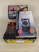 A small selection of vintage collectors cars including Matchbox plus three boxed channel scanner