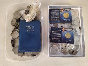 Various mixed British and Australian coinage