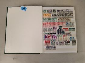 A stock book of stamps from Malta, Maldives,