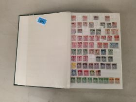 A part filled stamp album of used New Zealand