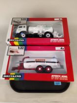 Four boxed Britains 1:32 scale models including 9605 Leyland milk transporter,
