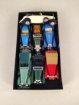 Six Matchbox Models of Yesteryear c1970's with a Solido Rolls Royce