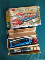 A Corgi Toys car transporter set No.