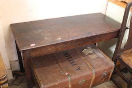 A late 19th Century oak side table
