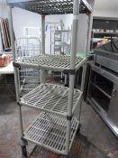 Plastic Shelf Unit/Trollery