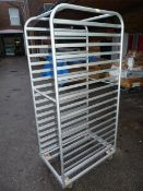 Bakery Tray Rack for Eighteen Trays
