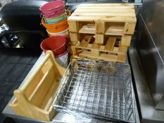 *Assorted Paint Buckets, Table Trivets, Wire Racks etc