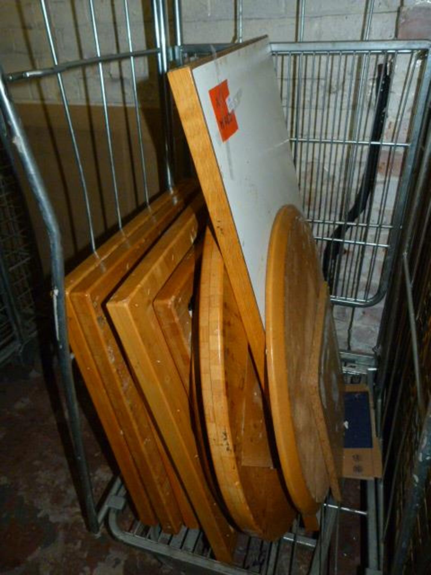 *11 Mixed Round & Square Table Tops - Various Sizes