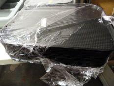 *Ten Black Plastic Trays