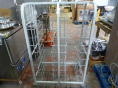*Mobile Side-by-Side Tray Rack