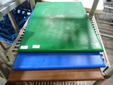 *Three Large Coloured Chopping Boards (Green, Blue & Brown)