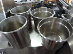 *Four Stainless Steel Bain Marie Inserts