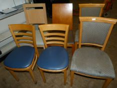 *6 Assorted Restaurant Chairs