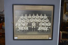 Framed English Rugby League Team Photograph 1936