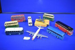 Dinky Buses, Aeroplane, etc.
